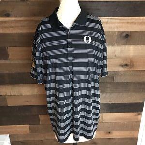 Nike golf Oregon Ducks black And White Polo